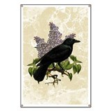 Lilacs And Crow Banner