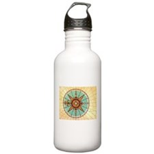 Antique Compass Rose Water Bottle