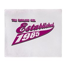 Established in 1985 birthday designs Throw Blanket