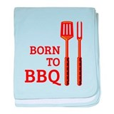 Born To BBQ baby blanket