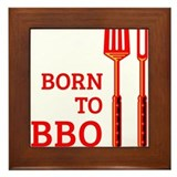Born To BBQ Framed Tile