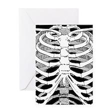 Ribcage Pattern Greeting Card
