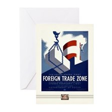 Foreign Trade Zone Greeting Cards (10 Pack)