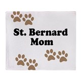 St. Bernard Mom Throw Blanket