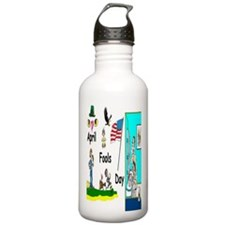 April Fools Day Parade Water Bottle