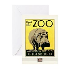 Zoo Hippo Greeting Cards (10 Pack)