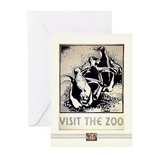 Zoo Penguins #1 Greeting Cards (10 Pack)