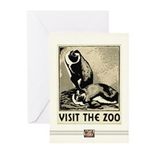 Zoo Penguins #2 Greeting Cards (10 Pack)