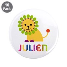 "Julien Loves Lions 3.5"" Button (10 pack)"