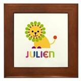 Julien Loves Lions Framed Tile
