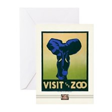 Zoo Elephant Greeting Cards (10 Pack)