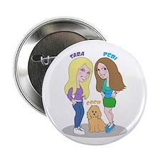"""Debi and Tara 2.25"""" Button (10 pack)"""
