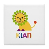Kian Loves Lions Tile Coaster