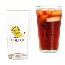 Kolton Loves Lions Drinking Glass