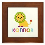 Konnor Loves Lions Framed Tile