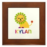 Kylan Loves Lions Framed Tile