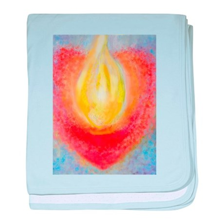 Heart Aflame baby blanket