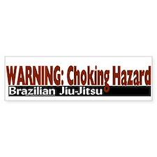 """Warning: Choking Hazard"" Bumper Bumper Sticker"