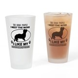 Dandie Dinmont Terrier doggy designs Drinking Glas