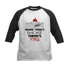Where Theres SMOKE Theres Fire Baseball Jersey
