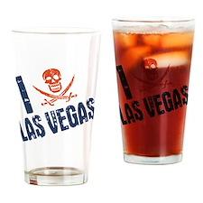 I Jolly Roger Las Vegas Drinking Glass