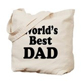 Worlds Best Dad Tote Bag