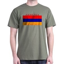 Armenia Armenian Flag Military Green T-Shirt