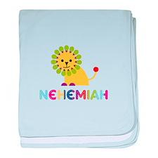 Nehemiah Loves Lions baby blanket