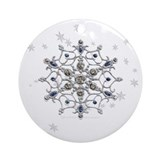 Winter Solstice Snowflake Ornament (Round)