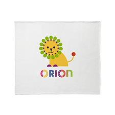 Orion Loves Lions Throw Blanket