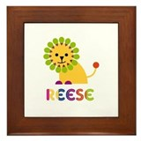 Reese Loves Lions Framed Tile