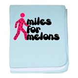 Miles for Melons baby blanket
