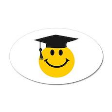 Graduate smiley face Wall Sticker