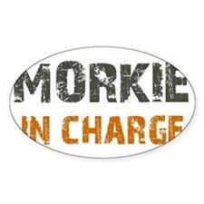 Morkie IN CHARGE Decal