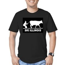 SKI ILLINOIS BLACK T-Shirt