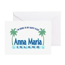 Anna Maria Island-Happy Place Greeting Cards (Pk o