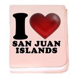 I Heart San Juan Islands baby blanket
