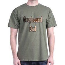 GREYHOUND DAD BRINDLE MILITARY GREEN TEE
