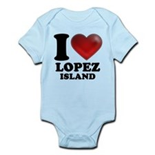 I Heart Lopez Island Body Suit