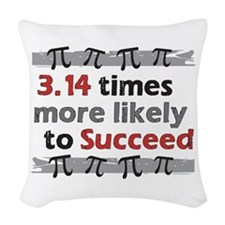 Pi Success Funny Math Woven Throw Pillow