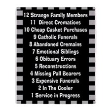 Funny Funeral Director Throw Blanket