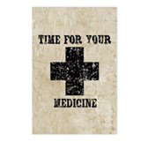 Time For Your Medicine Postcards (Package of 8)