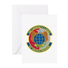 60th Services Squadron Greeting Cards (Package of