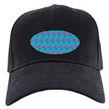 Flamingos Marching On Teal Background Baseball Hat