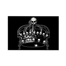 Gothic Skull Crown Rectangle Magnet