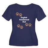 English Coonhound Dad Plus Size T-Shirt