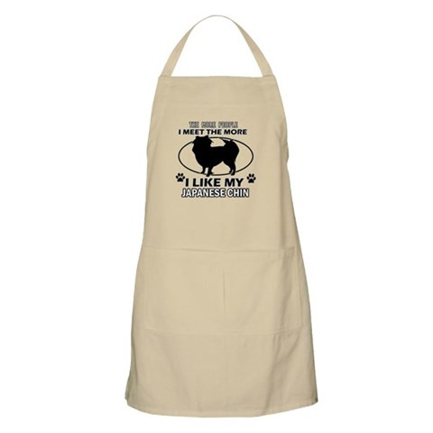 Japanese Chin doggy designs Apron