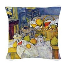 Cute Fruits basket Woven Throw Pillow