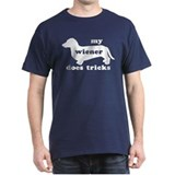 Wiener Tricks Navy Blue T-Shirt