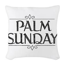 Vintage Palm Sunday Woven Throw Pillow
